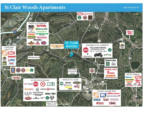 St. Clair Woods Apartments Aerial Map