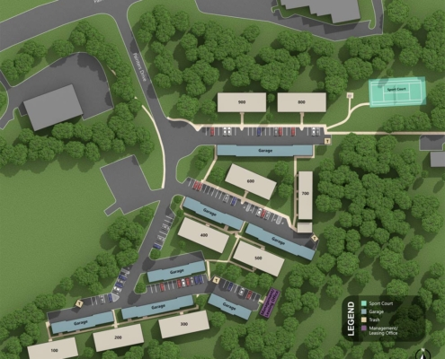 St. Clair Woods Apartments Layout Map