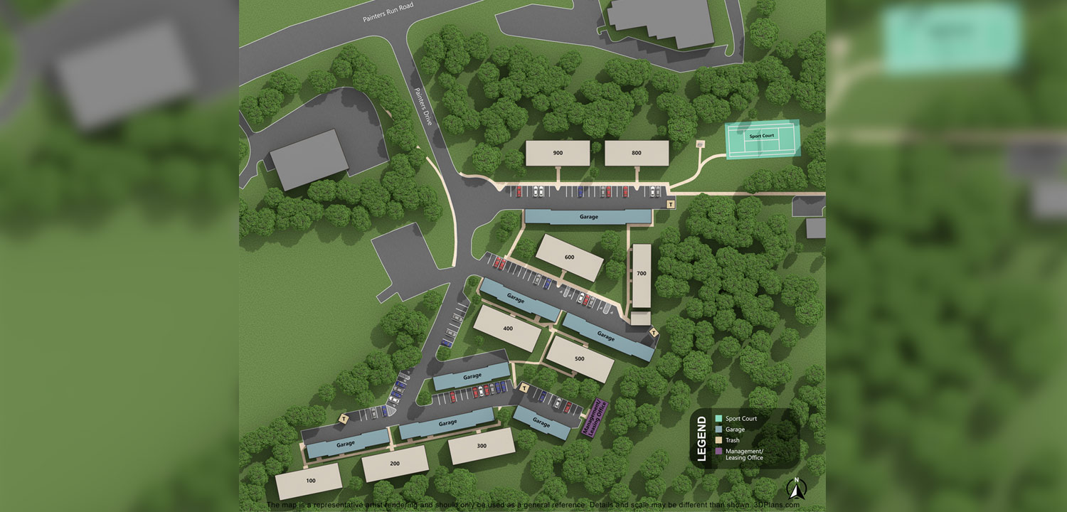 St. Clair Woods Apartments Apartment Layout Map